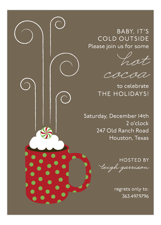 Hot Cocoa Mug Invitation