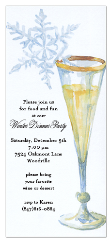 Ice Wine Invitation