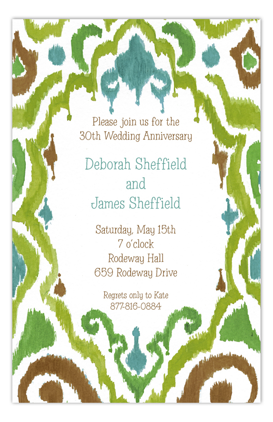 Ikat Elegant Invitation