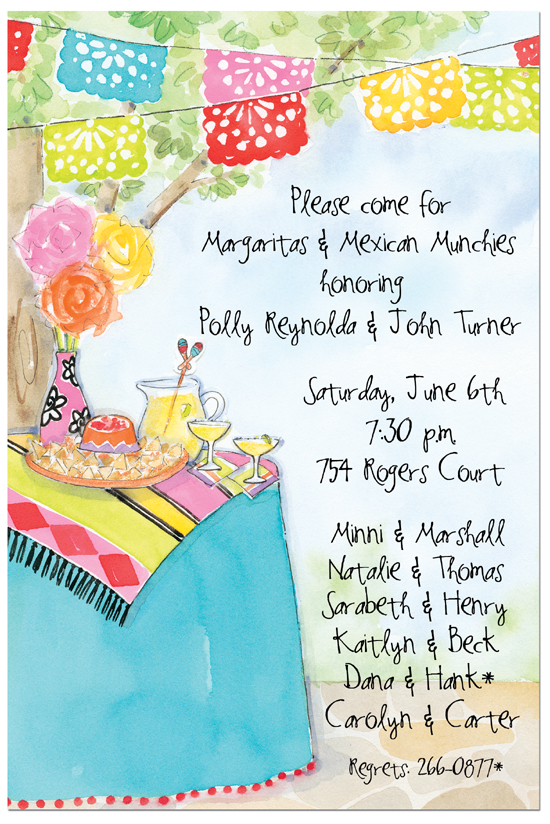 Margaritas and Munchies Party Invitations