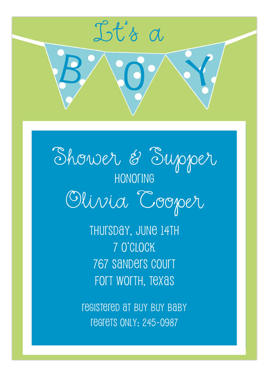 Its a Boy Banner Invitation