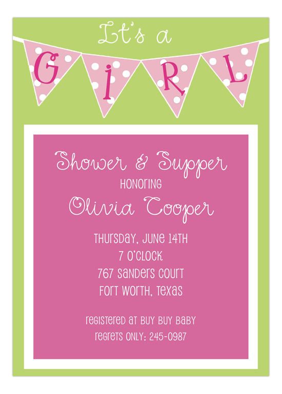 Its a Girl Banner Baby Shower for Girls