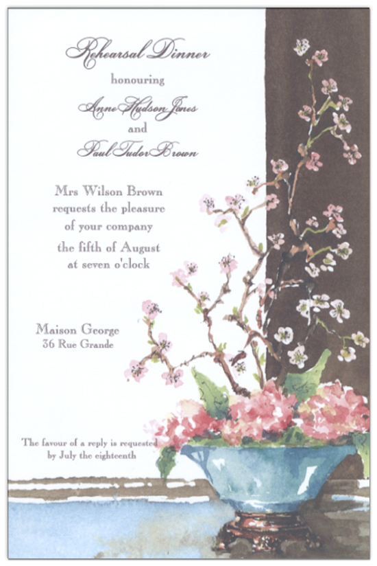 Japanese Quince Invitation