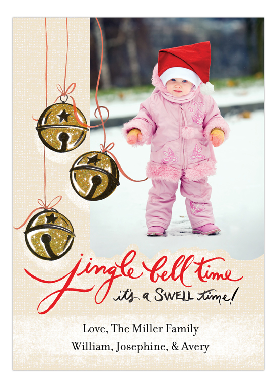 Jingle Bell Time Photo Card
