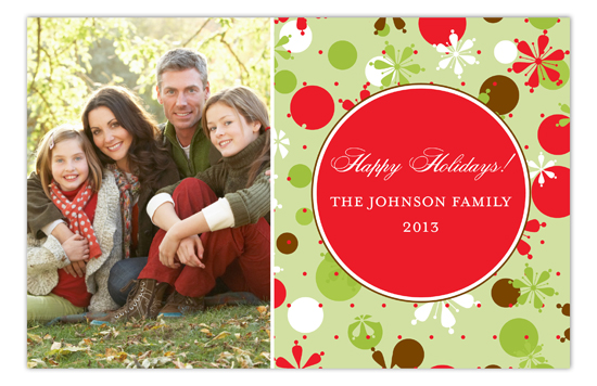 Festive Holiday Joy Custom Photo Cards