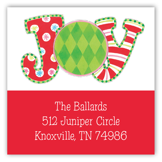 Joyous Holiday Square Sticker