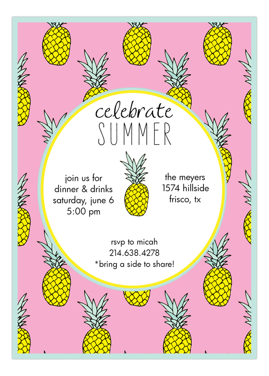 end of summer invitations