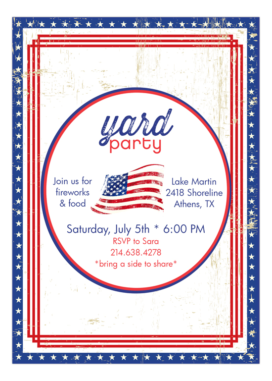 Patriotic Flag Backyard Party