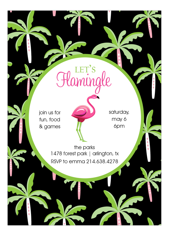 flamingo mingle party invitation summer party invites