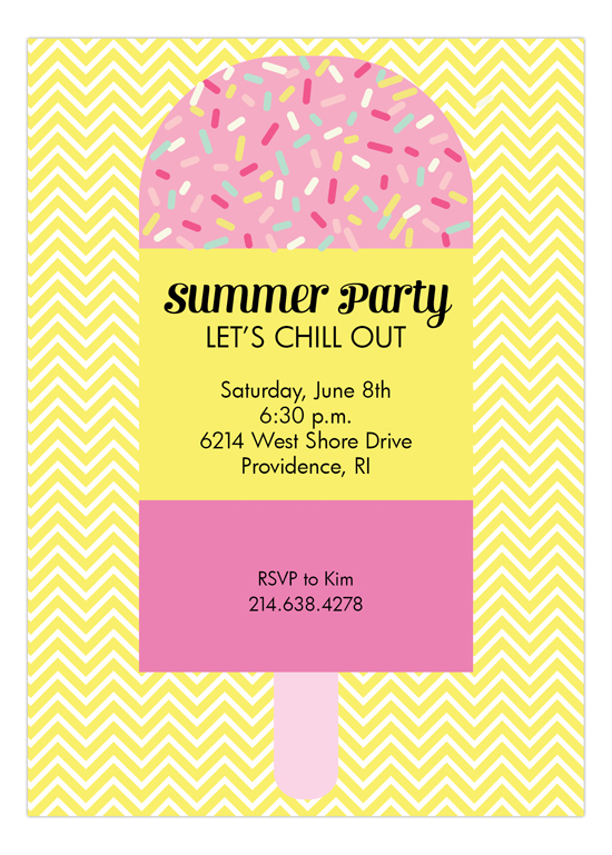 Popsicle with Sprinkles and Chevron