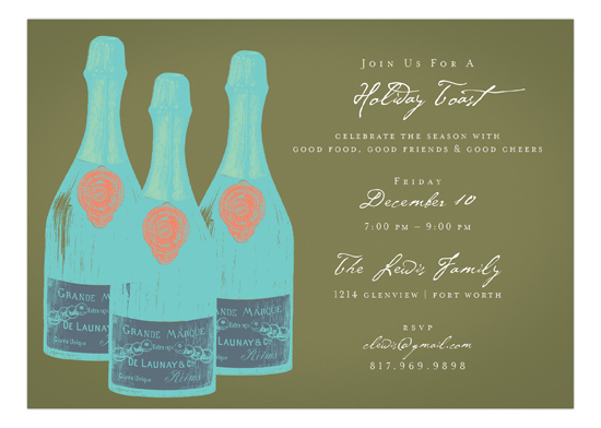 Khaki Savvy Cocktail Invitation