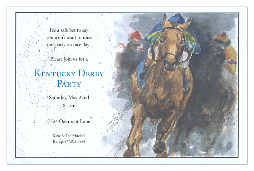 Kickin Dirt Invitation