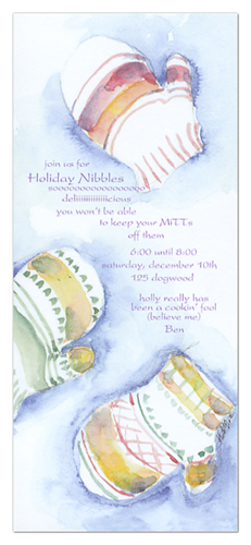 Kids Mittens Invitation