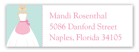 Kiss the Blond Cook Address Label