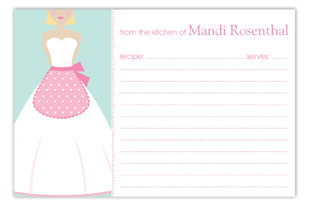 Kiss the Blond Cook Recipe Card