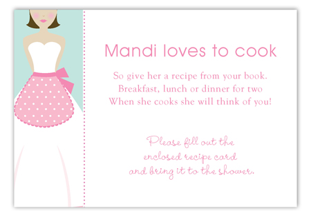 Kiss the Brunette Cook Enclosure Card
