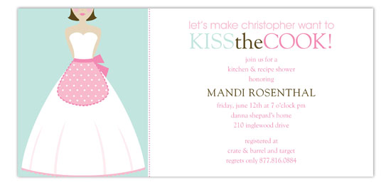 Kiss the Brunette Cook Invitation