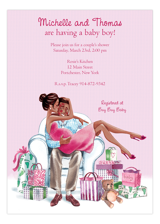 Kisses For Baby Pink African American Baby Shower