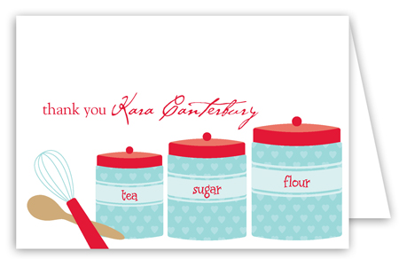 Kitchen Canisters Folded Note Card