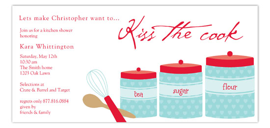 Kitchen Canisters Invitation