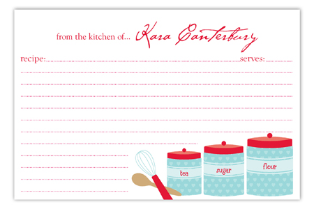Kitchen Canisters Recipe Card