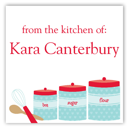 Kitchen Canisters Square Sticker