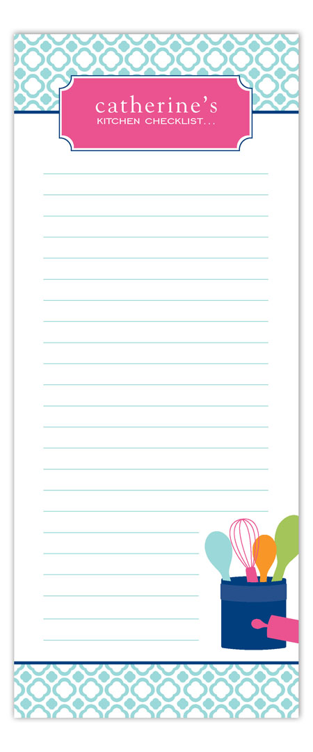 Kitchen Checklist Notepad