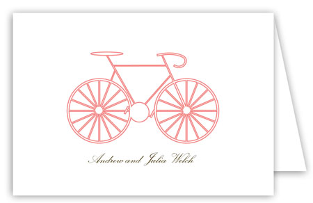 La Bicyclette Folded Note Card
