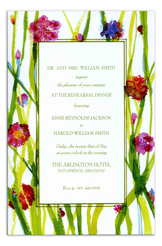Lady Bugs Invitation