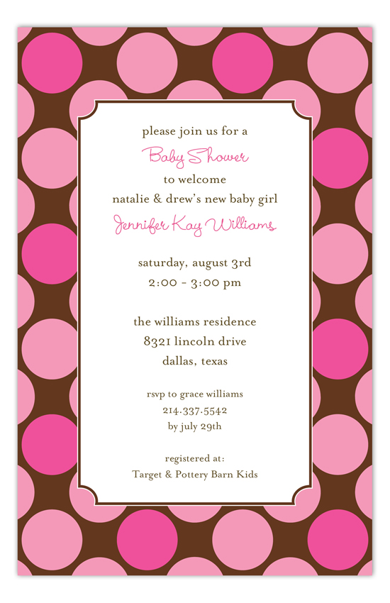 Large Pink Dots Invitation