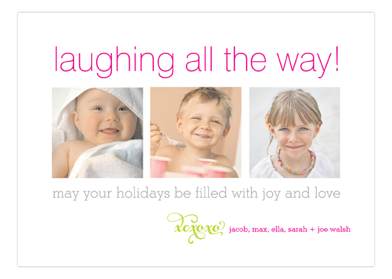Joy and Love Laughing All The Way Photo Card