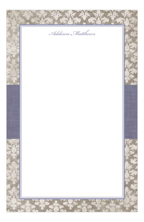 Lavender Damask Cloth Notepad