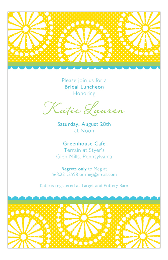 Lemon Burst Invitation