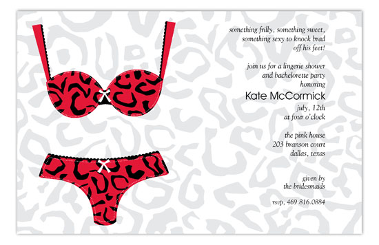 Leopard Undies Invitation