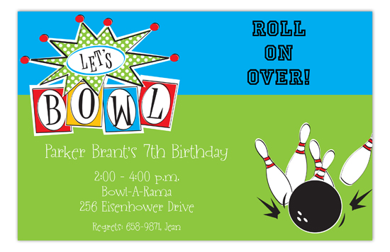 Lets Bowl Invitation