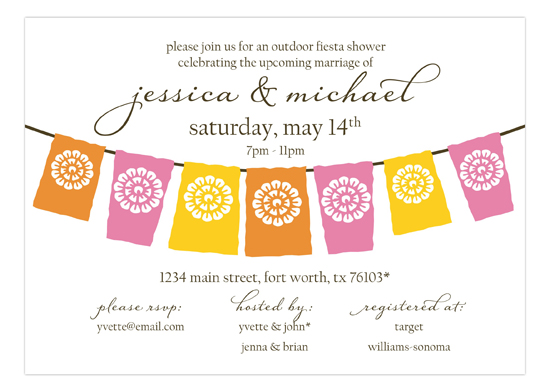 Lets Fiesta Pink Invitation