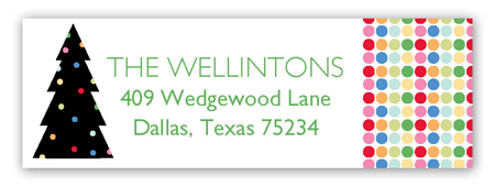 Lights Aglow Address Label
