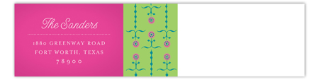 Lime Dotted Border Envelope Wrap Address Label