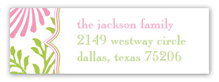 Lime Pink Floral Address Label
