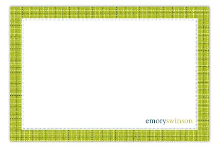 Lime Tweed Flat Note Card