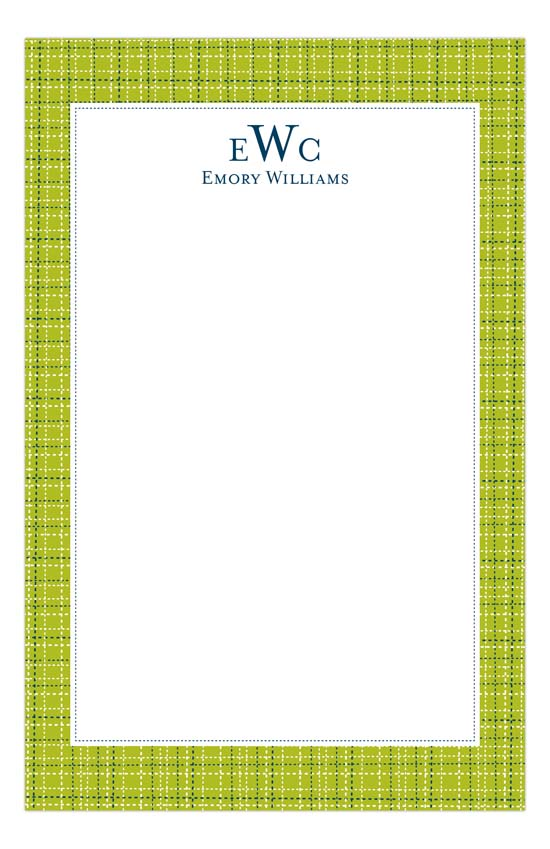 Lime Tweed Notepad