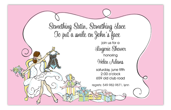 Lingerie Bride Invitation