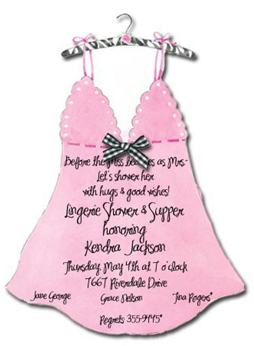 Lingerie Die-cut Invitation
