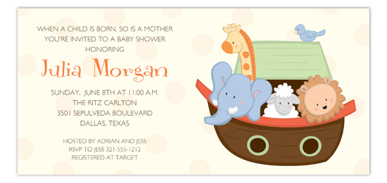 Little Ark Animals Invitation