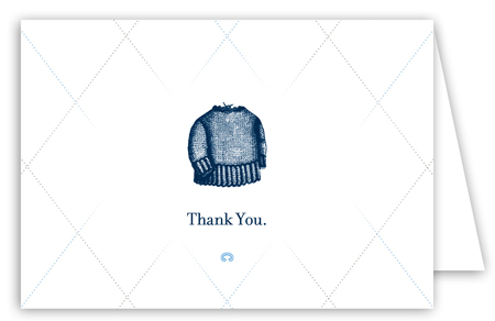 Little Boy Blue Note Card