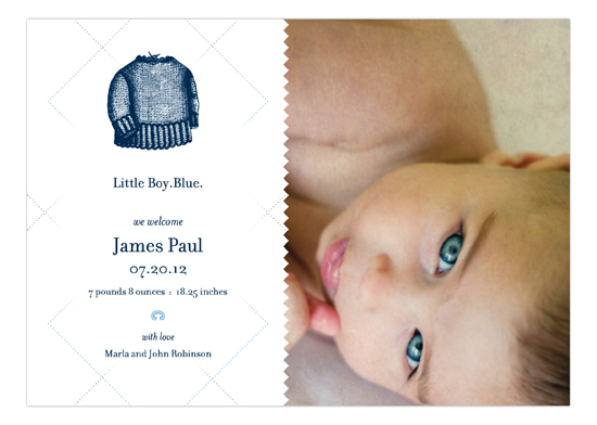 Little Boy Blue Photo Card