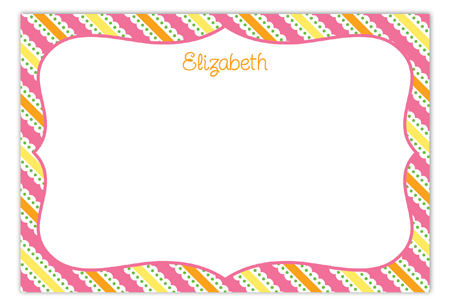 Little Chick Girl Baby Shower Flat Note Card