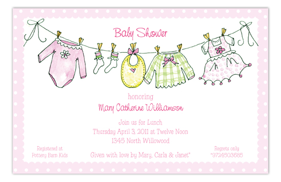 Little Girls Clothes Invitation