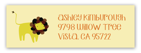 Little Lion Address Label