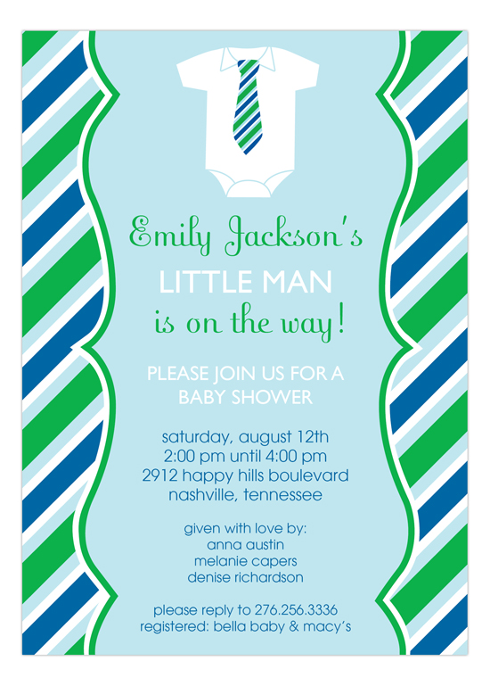 Little Man Onesy Baby Shower Invitation